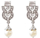 Ben-Amun Women's Ben X Imitation Pearl Drop Earrings
