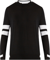 Givenchy Contrast-panel striped sweater