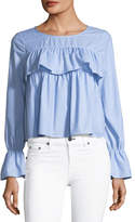 Joie Adotte Ruffled Cotton Blouse