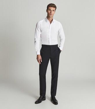 Reiss Kiana - Cotton Stretch Poplin Slim Fit Shirt in White