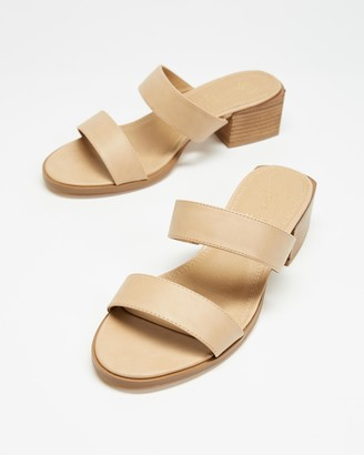 Spurr Women's Neutrals Mid-low heels - Lucie Wide Comfort Heels - Size 7 at The Iconic