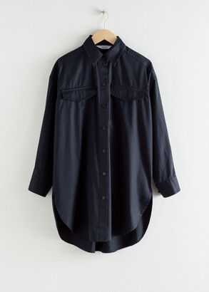 And other stories Oversized Utility Button Down Shirt