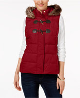 Charter Club Faux-Fur-Trim Puffer Vest, Only at Macy's