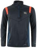 Canterbury Mens Quarter Zip Rugby Training Sweater Performance Fleece Jumper