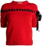 Fendi Ribbon-detail cashmere top