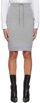 Thom Browne Grey Loopback 4-Bar Sack Skirt