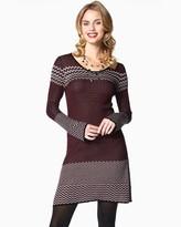 Charming charlie Chevron Flurry Sweater Dress