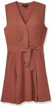 Club Monaco Women's Day-to-Night Mini Dress Cinnamon 0