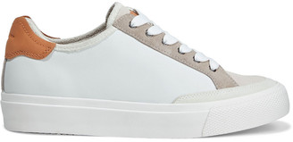 Rag & Bone Rb Army Color-block Leather And Suede Sneakers