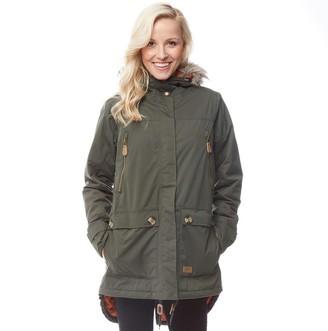 Trespass Womens Clea Insulated Waterproof Parka Jacket Dark Khaki