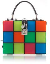 Dolce & Gabbana Multicolor Squares Top Handle Bag