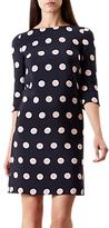 Hobbs Polka Dot Chrissie Dress, Navy/Blossom