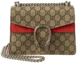 Gucci Dionysus Gg Mini Supreme Canvas & Suede Shoulder Bag