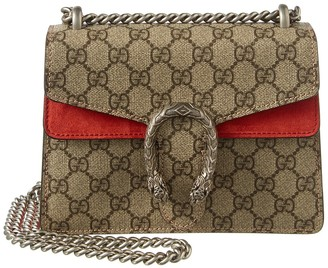 Gucci Dionysus Gg Supreme Canvas & Suede Shoulder Bag