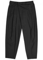 McQ Black Wrap-effect Wool Trousers
