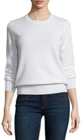 Neiman Marcus Long-Sleeve Crewneck Cashmere Sweater, Plus Size