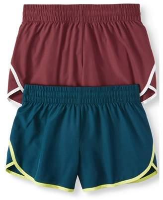 Athletic Works Women's Active Running Short with Hidden Liner 2-Pack Bundle