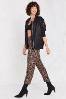 Silence & Noise Silence + Noise Bridgitte Leopard Pull-On Pant