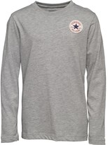 Converse Boys CTP Left Chest Long Sleeve Top Vintage Grey Heather
