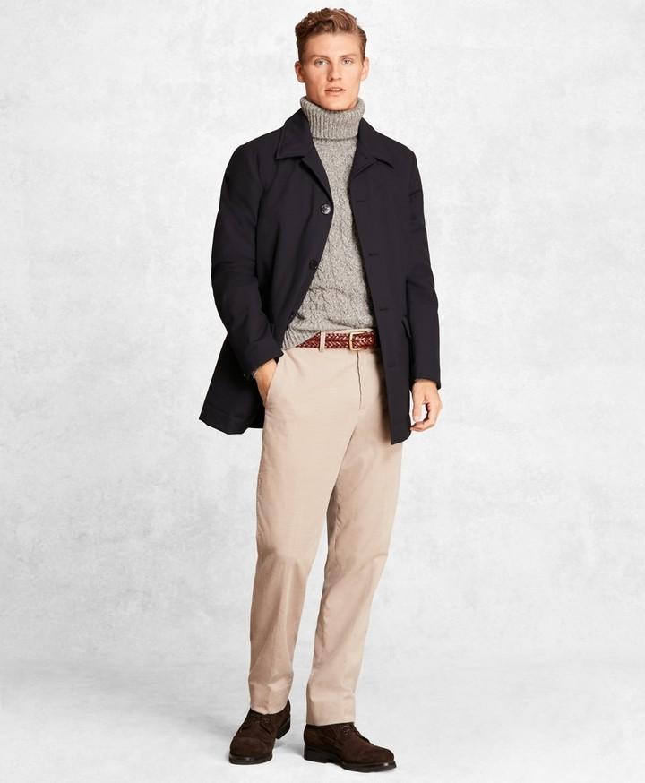 Brooks Brothers Golden Fleece Wool Tech Short Trench Coat