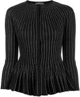 Alexander McQueen peplum silk-blend cardigan