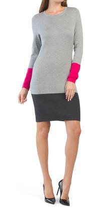 Double Knit Color Block Sheath Dress