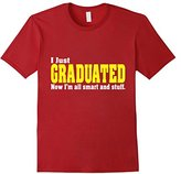 Special Tee Men's I Just Graduated Now I'm All Smart And Stuff T-Shirt 2XL