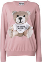 Moschino toy bear sweatshirt - women - Cotton/Virgin Wool - XS