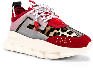Versace Chain Reaction Sneaker in Red | FWRD