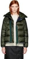 Sacai Khaki Down Nylon Jacket