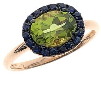 Rosa De La Cruz Oval Gemstone Ring Peridot & Green Garnet