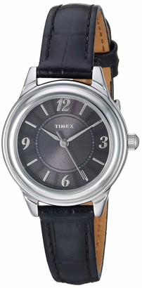 Timex Women's TW2R86000 Classic 26mm Blue/Silver-Tone Croco Pattern Leather Strap Watch