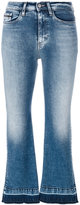 CK Calvin Klein high rise cropped flared jeans