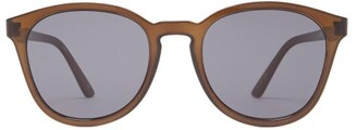 Le Specs Renegade Round-frame Acetate Sunglasses - Womens - Black