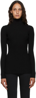 MM6 MAISON MARGIELA Black Tight Knit Turtleneck