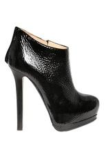 Giuseppe Zanotti 150mm Textured Patent Low Boots