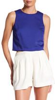 Nicole Miller Sleeveless Cropped Shirt