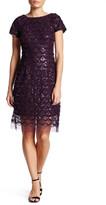 Sandra Darren Cap Sleeve Sequined Dress (Petite)