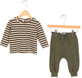 Babe & Tess Boys' Striped Rib Knit Two-Piece Set w/ Tags