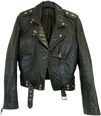 BLK DNM Green Leather Jacket for Women