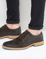 Dune Bunker Leather Derby Brogue Shoes