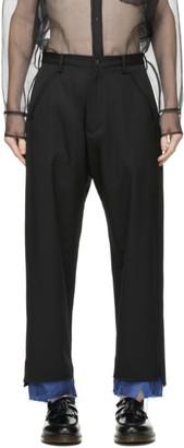 Sulvam Black Layered Trousers