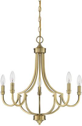 Savoy House Lighting Auburn 5 Light Chandelier in Warm Brass
