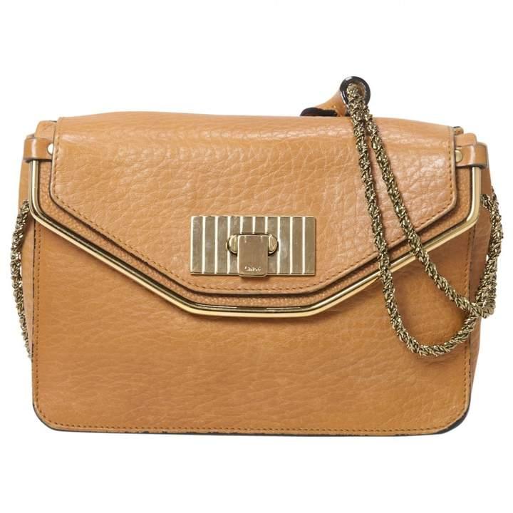 Chloé Camel Leather Handbag Sally
