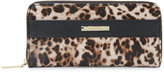 Anne Klein Leopard Print Kick Start Zip Wallet