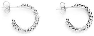 Agnes de Verneuil Tinny Silver Hoop Earrings Pearls Line - Silver