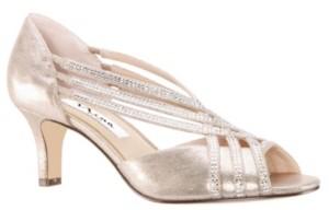 Nina Novita Cross Strap Peep Toe Pumps Women's Shoes