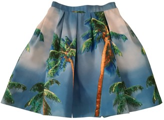 P.A.R.O.S.H. Turquoise Cotton Skirt for Women
