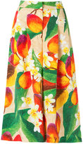 Isolda - floral and mango culottes - women - Silk - 36