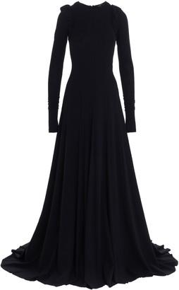 Ann Demeulemeester Padded Shoulder Gown